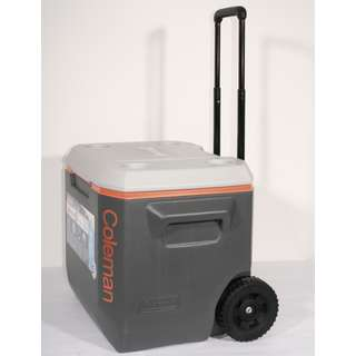 Coleman Kühlbox 50 QT Wheeled grau/orange